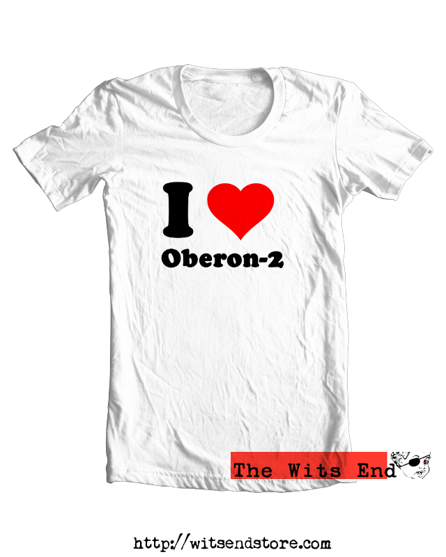 I Love Oberon-2 tee shirt example