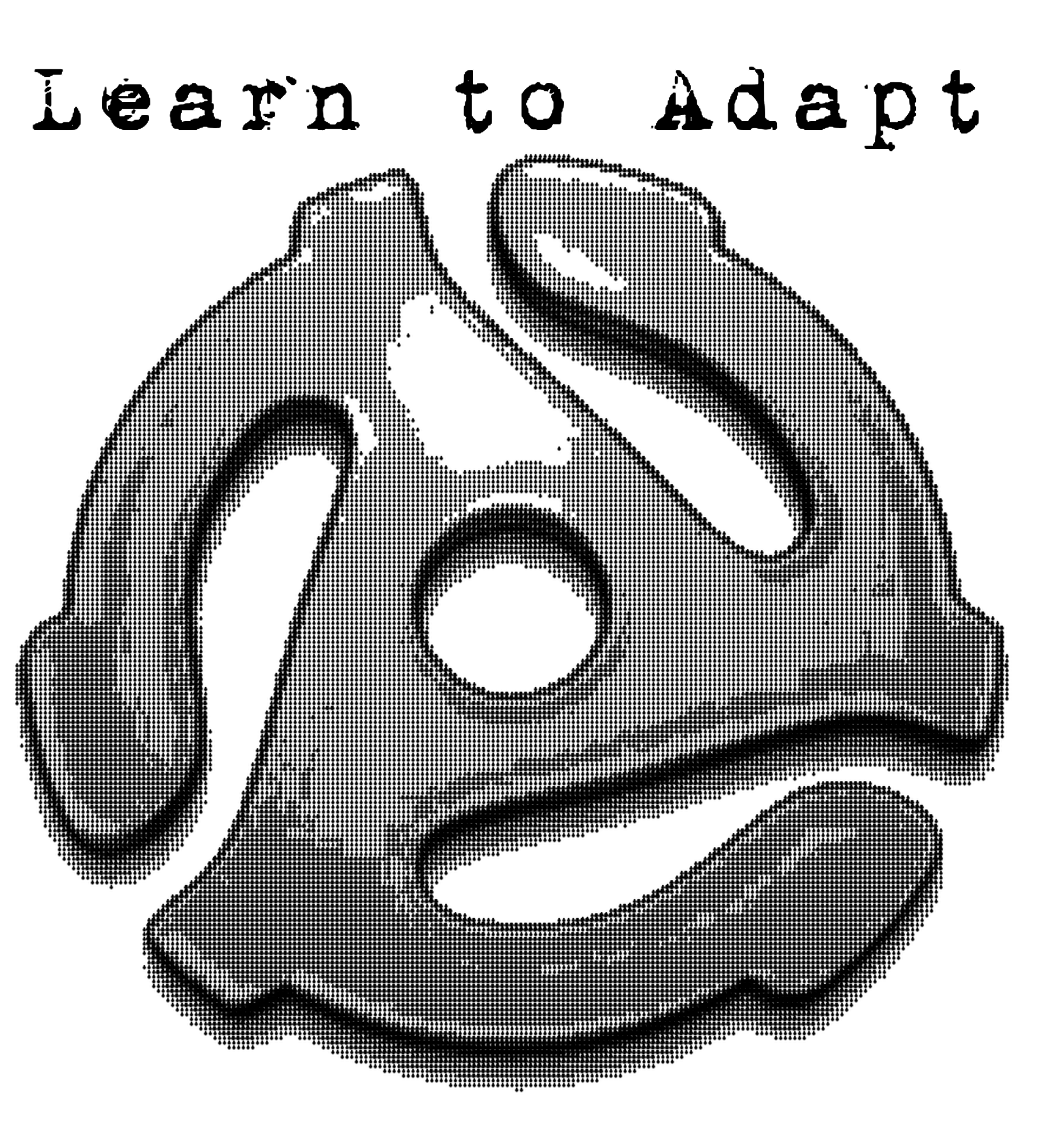 Learn to Adapt (with 45RPM adapter) tee shirt design