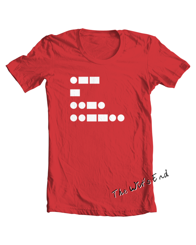 WTF! (in Morse Code) tee shirt example