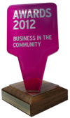 globehuggers win the business in the community award 2012