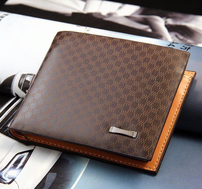 77d65a7e65 Wallet New designer fashion style genuine+PU Leather bag brand men wallets  handbag purse Money Clip Short Style