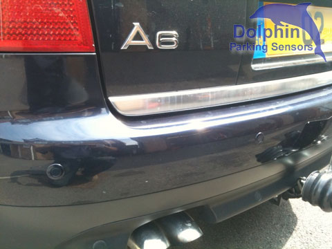 Black rear parking sensors