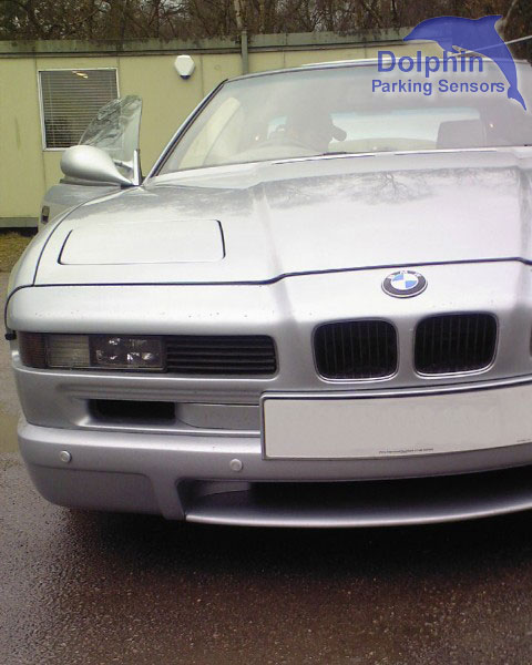 BMW old 6 series with sensors fitted