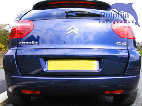 Citroen C4 Picasso with Sea blue parking sensors int he rear bumper