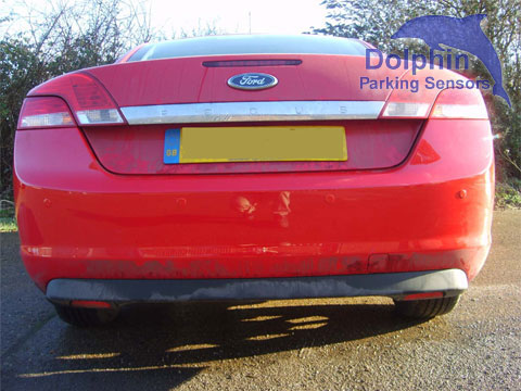 Ford Focus Cabriolet fitted with red parking sensors
