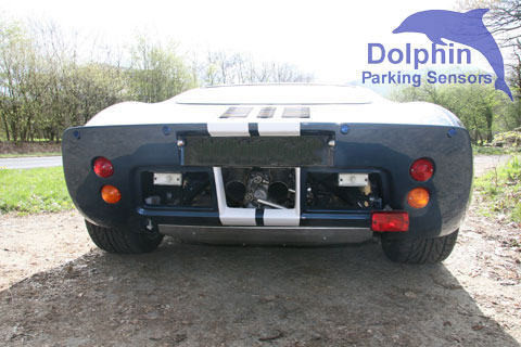 Ford GT 40 with sensors installed int he rear bumper