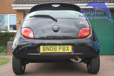 Ford Ka With Parking Sensors Installed In The Rear Bumper