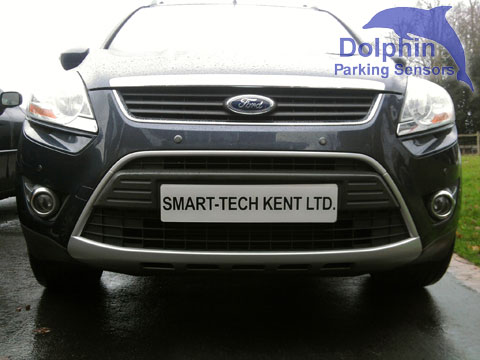 Parking sensors installed on the front of a Kuga