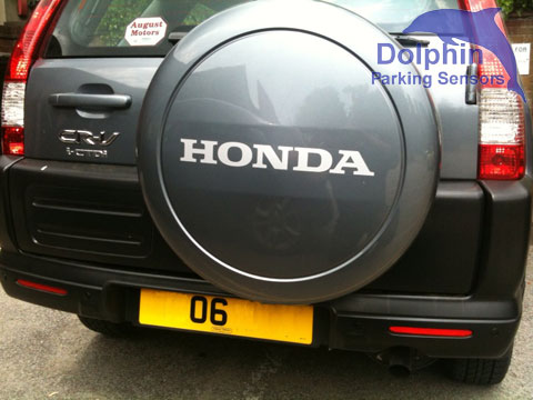 parking sensors working with a spare wheel mounted on the rear