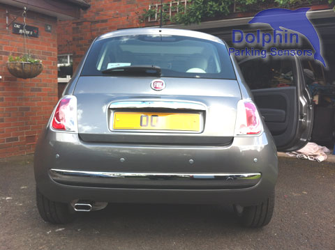 Fiat 500 fitted with parking sensors