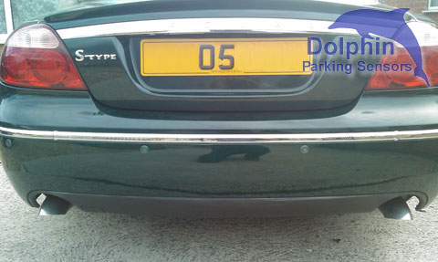 Jaguar S-Type with Bottle Green parking sensors installed