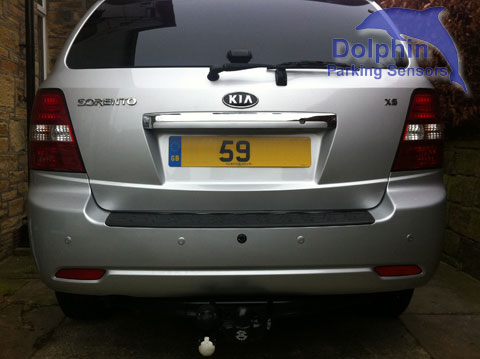 Kia Sorento installed with parking sensors in silver 59 reg