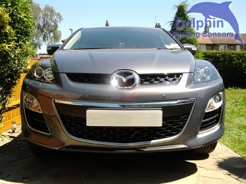 Mazda CX6 with parking sensors installed on the front