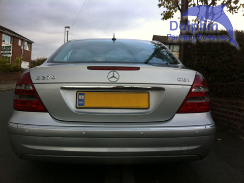 Mercedes E270 CDI with sensors installed