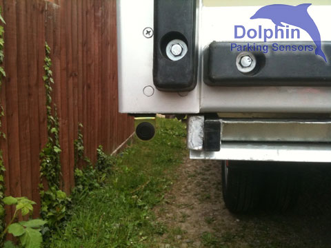 Parking sensors mounted under van