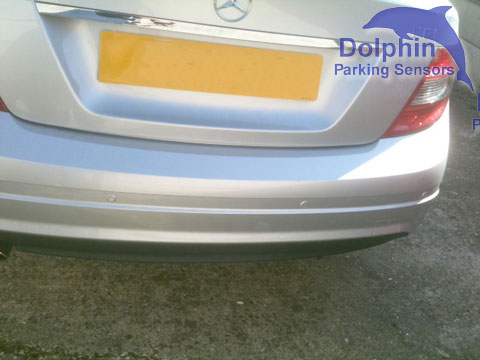 Mercedes C200 with parking sensors installed
