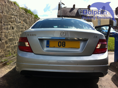 C220 reversing with parking sensors