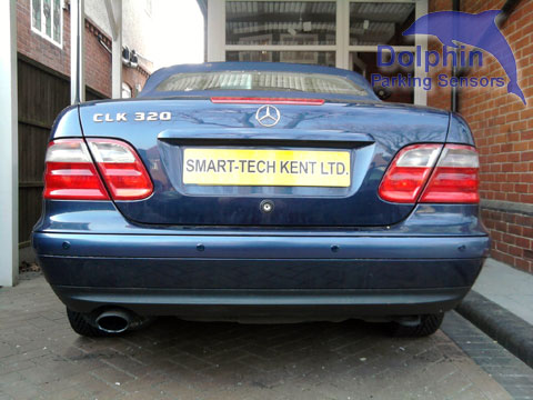 CLK320 with parking sensors installed