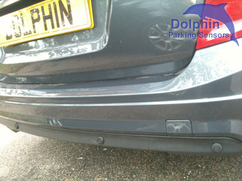 E Class close up of parking sensors in trim