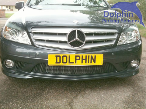 Mercedes E Class with front and rear parking sensors