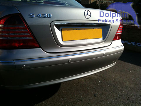 S430 Saloon with parking sensors fitted in to the rear bumper