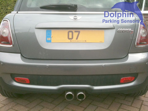 2007 Mini with our DPS400 parking sensor kit
