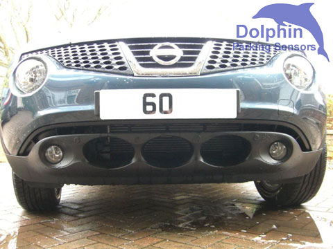 front sensors installed on Nissan Juke Acenta