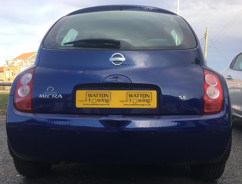 Nissan Micra Blue Parking Sensors