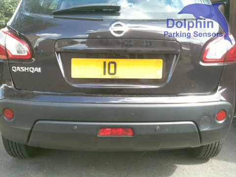 Nissan Qashqai with matt black parking sensors in the bumper