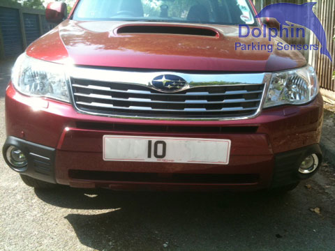 Subaru Forester with parking sensors fitted to the front