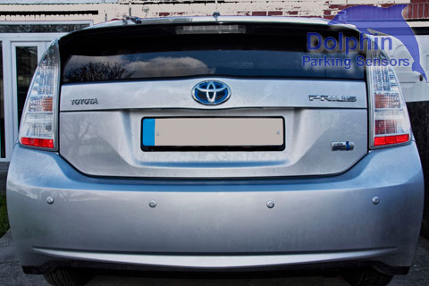 Prius with Silver parking sensors