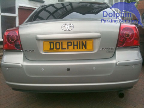 Toyota Avensis with silver rear parking sensors with camera