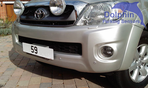 silver sensors on Hilux