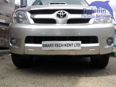 Toyota Hilux with front and rear parking sensors