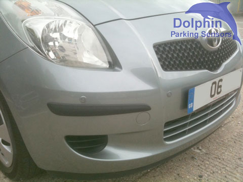 Toyota Yaris with parking sensors installed