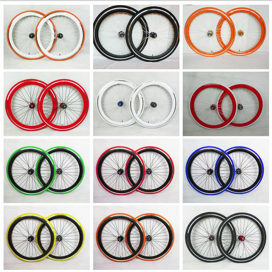 Choice of different colour fixed gear wheel sets