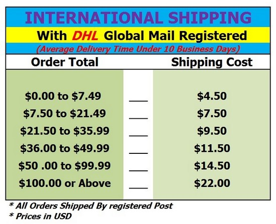 Siam Secrets Shipping prices