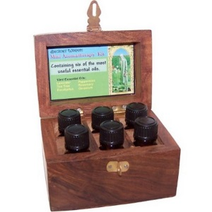 aromatherapy essential oils in a box