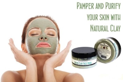 green clay face mask powder