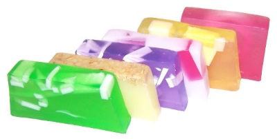 hand crafted soap slices