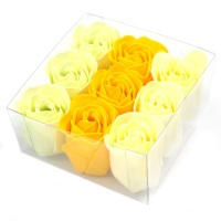 Set of 9 Soap Flowers Spring Roses