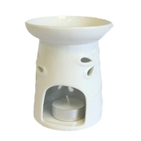 Large Classic White Oil Burner - Dragonfly