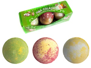 Set of Three Piña Colada Bath Bombs