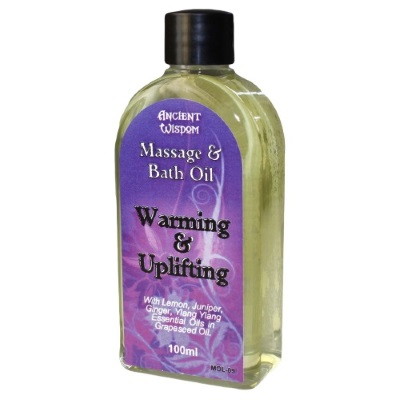 warming and uplifting massage and bath oil