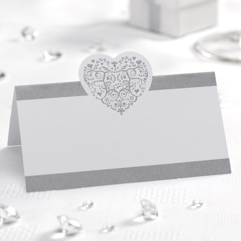Heart Place Cards