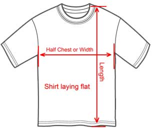 How to size a t shirts from wholesale t shirts New Zealand